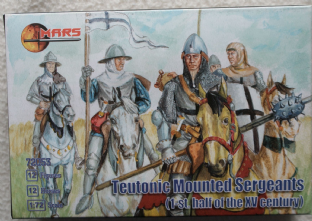Mars 1/72 MAR72053 Teutonic Mounted Sergeants (Medieval)